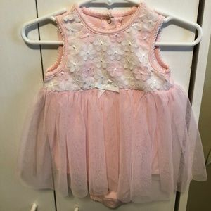 Little Me Size 9M Onesie with Tulle Skirt